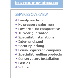 Call Firstchoice Windows for doors and conservatories.